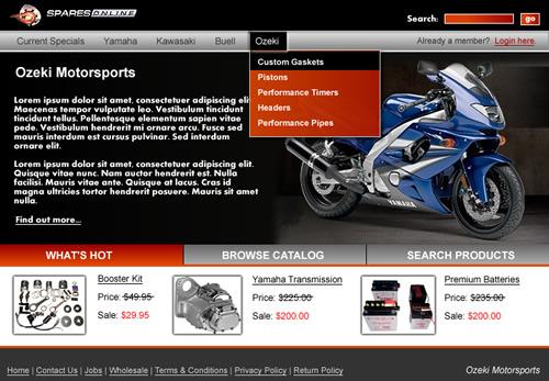 Demo Website Homepage Screenshot