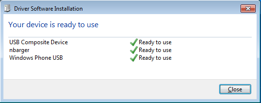 Windows Device Auto-Installation Success Screenshot