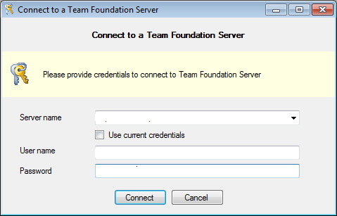 TFS Sidekick 2010 Connect to TFS Configuration