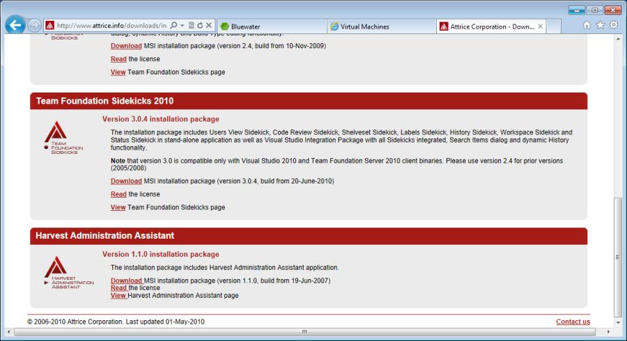 TFS Sidekicks 2010 Download